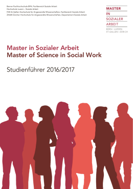 Master in Sozialer Arbeit Master of Science in Social Work