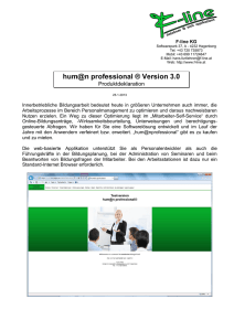 hum@n professional ® Version 3.0 - F-Line
