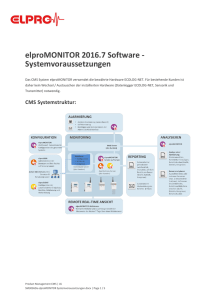 elproMONITOR 2016.7 Software