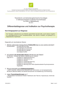 Differentialdiagnose und Indikation zur Psychotherapie