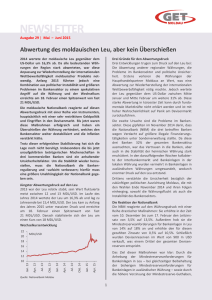 NEWSLETTER - German Economic Team Moldau