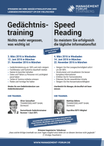 Gedächtnis- training Speed Reading