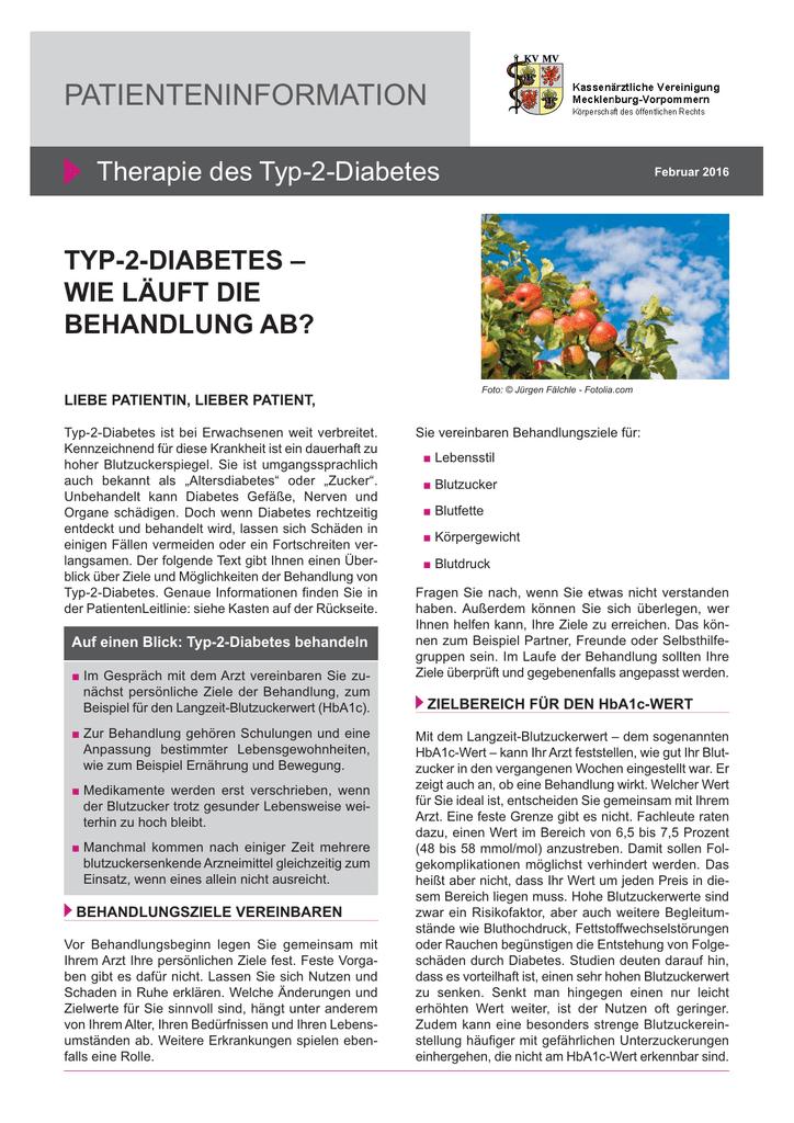 typ 2 diabetes wie luft die behandlung ab - Personliche Ziele Beispiele