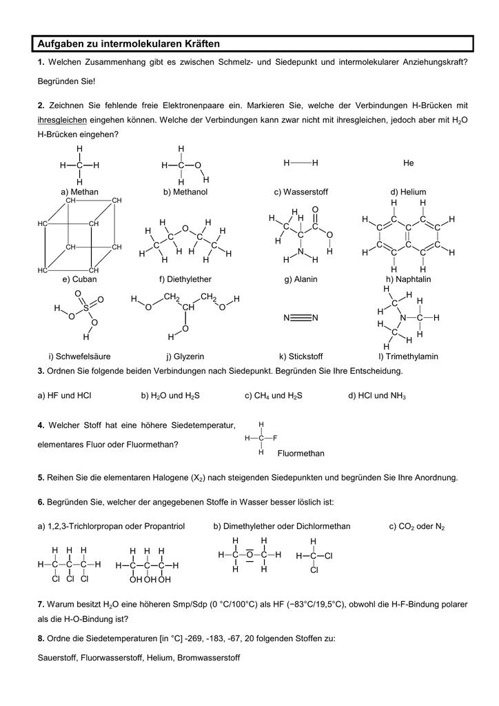Tg11aufgaben Zu Intermolekularen Kraeftenlsg