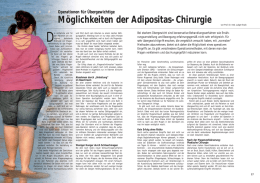 adipositaschirurgische Operationen