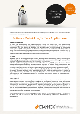 Software Entwickler/in Java Applications