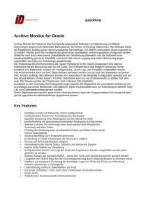 Archive Monitor for Oracle
