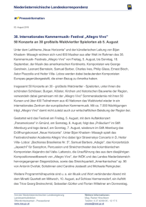"38. Internationales Kammermusik- Festival ""Allegro Vivo"" 50"