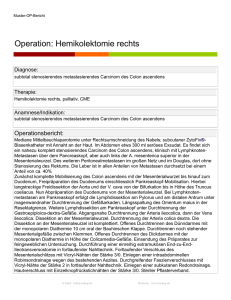 Operation: Hemikolektomie rechts