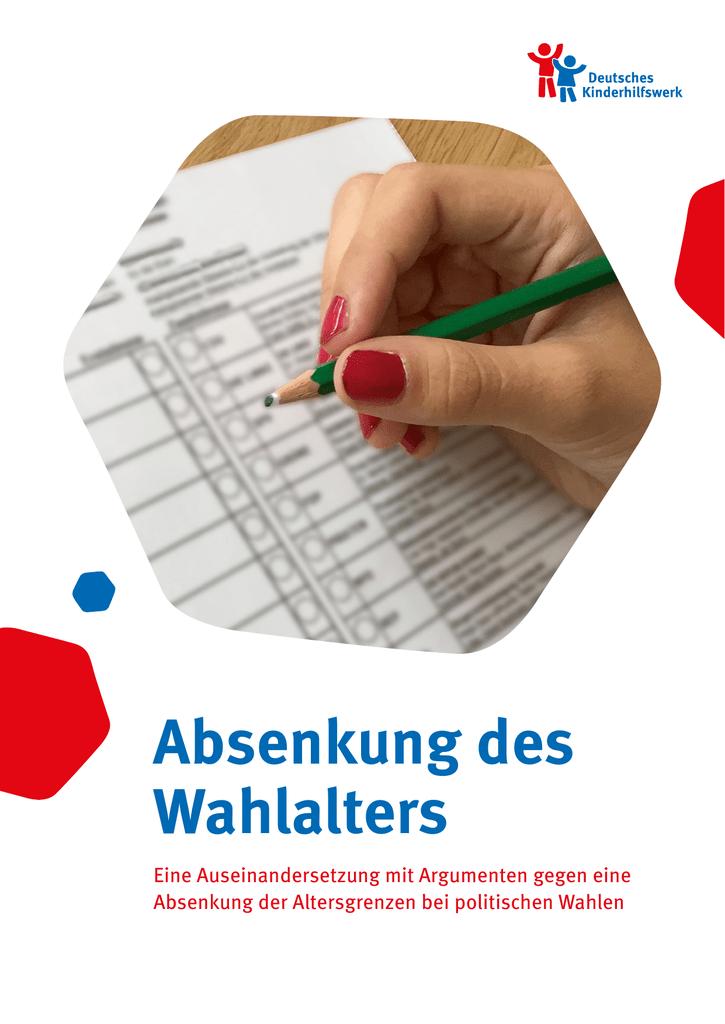 Absenkung des Wahlalters - Deutsches Kinderhilfswerk