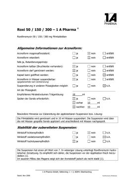 Roxithromycin Genericon 300 mg Filmtabletten