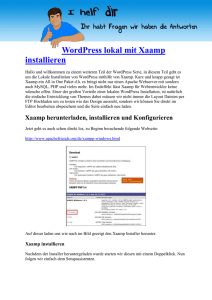 WordPress lokal mit Xaamp installieren
