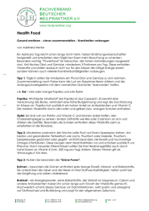 FACHVERBAND DEUTSCHER HEILPRAKTIKER e.V. Health Food