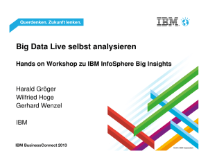 Big Data Live selbst analysieren