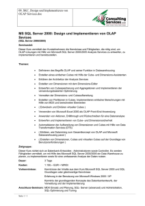 MS SQL Server 2000: Design und Implementieren von OLAP Sevices