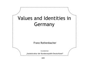 Values and Identities in Germany