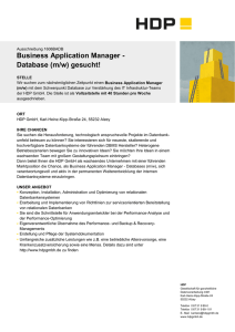 Business Application Manager - Database (m/w) gesucht!