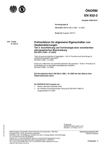 EN 932-3 - Austrian Standards plus
