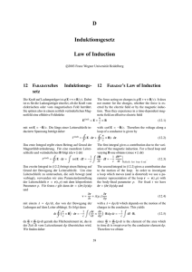 D Induktionsgesetz Law of Induction