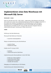 Implementieren eines Data Warehouse mit Microsoft SQL Server