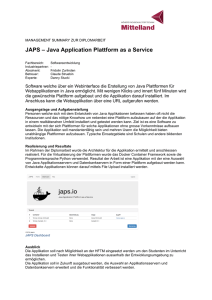 DA JAPS - Java Application Plattform