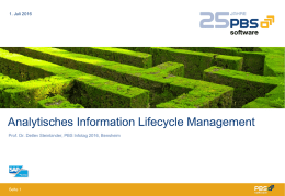 Analytisches Information Lifecycle Managment