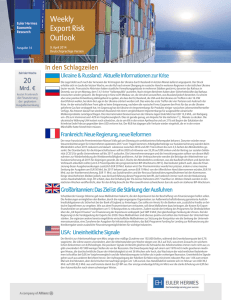 Weekly Export Risk Outlook vom 9. April 2014