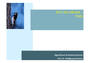 DIGITALE BÄUME – TRIES