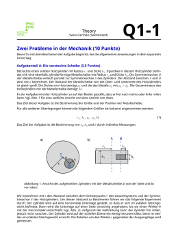 IPhO 2016 - Theory - Two Problems in Mechanics