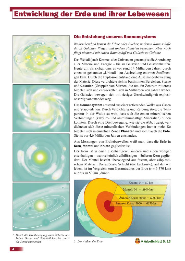 Entwicklung der Erde und ihrer Lebewesen