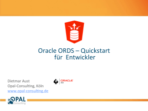 Oracle ORDS – Quickstart für Entwickler - Opal-Consulting