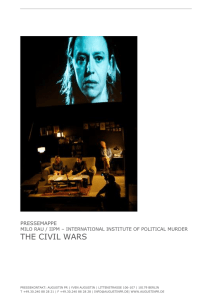 the civil wars - Theater Spektakel