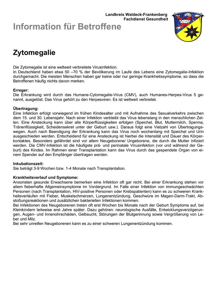 zytomegalievirus erwachsene symptome