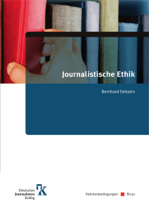 Journalistische Ethik - Deutsches Journalistenkolleg