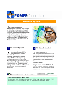 Kosten von Myozyme - International Pompe Association
