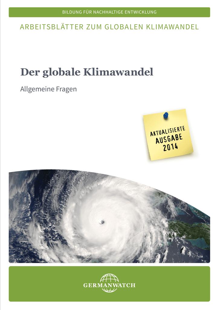 Der globale Klimawandel - Allgemeine Fragen