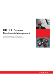 SIEBEL Customer Relationship Management