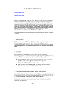 SX-M2 GERMAN USER MANUAL Page 1