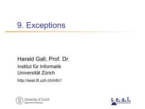 9. Exceptions - Universität Zürich