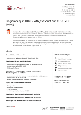 Programming in HTML5 with JavaScript and CSS3 (MOC 20480)
