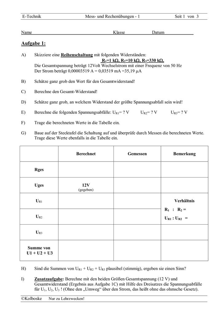 5b - Übungsaufgaben 1 (leicht)