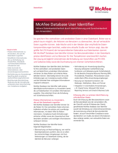 McAfee Database User Identifier