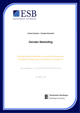 Gender Marketing - ESB Business School