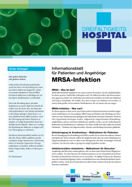 MRSA-Infektion - Dreifaltigkeits