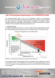 ThermoPhotoVoltaik-System (TPV)