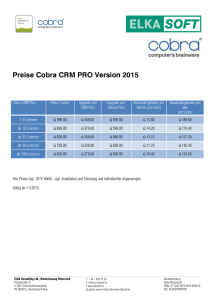 Preise Cobra CRM PRO Version 2015
