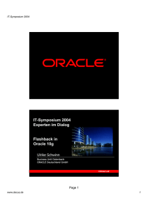 1P08 Flashback in der Oracle 10g Datenbank
