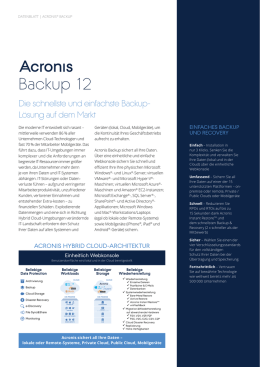 Acronis Backup 12 Datenblatt - IT