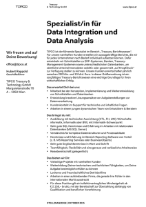 Spezialist/in für Data Integration und Data Analysis