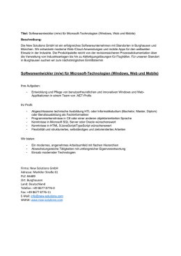 Softwareentwickler (m/w) für Microsoft-Technologien